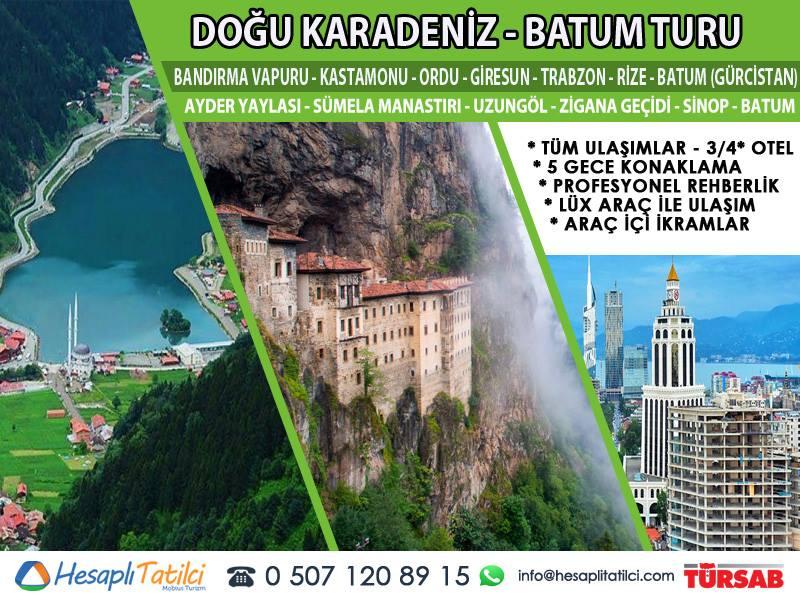 Doğu Karadeniz - Batum Turu (5 Gece - 6 Gün) Fethiye Çıkışlı