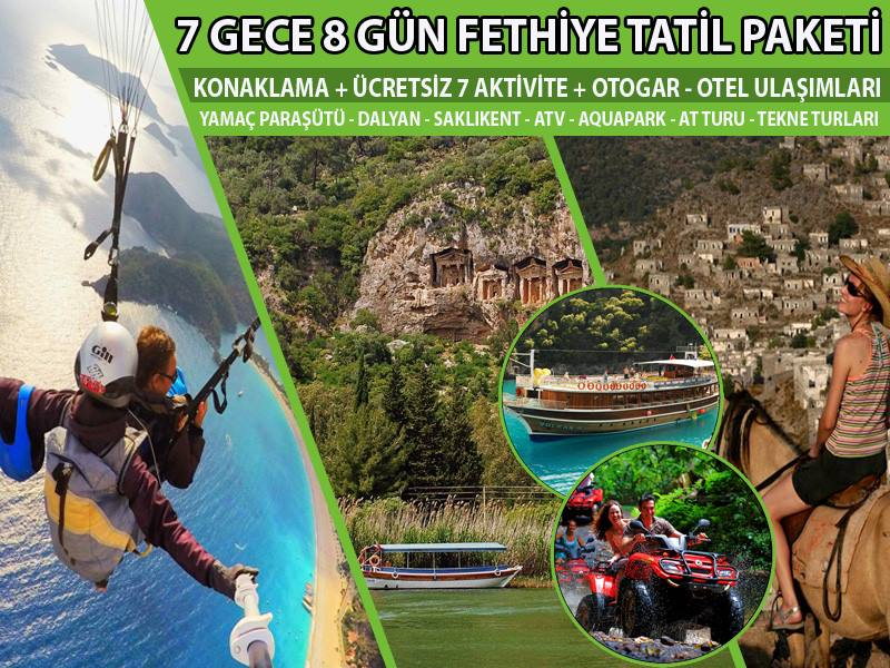 7 Gece / 8 Gün Tatil Paketi (Ücretsiz 7 Aktivite)