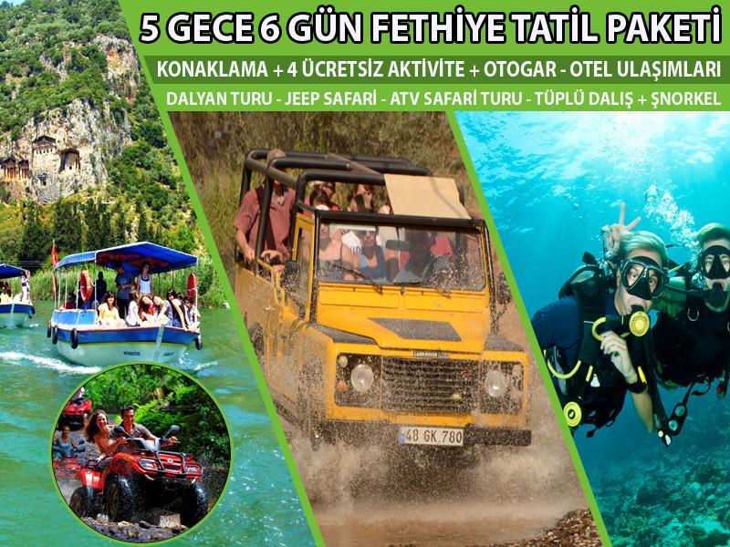 5 Gece / 6 Gün Tatil Paketi (Ücretsiz 4 Aktivite)