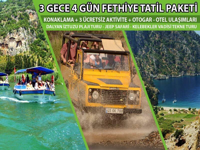 3 Gece / 4 Gün Tatil Paketi (Ücretsiz 3 Aktivite)