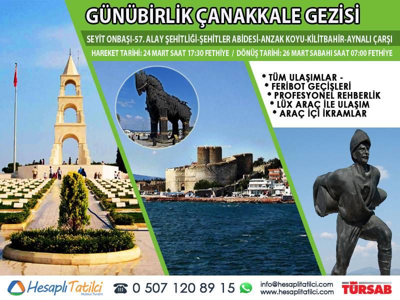 Günübirlik Çanakkale Turu | Fethiye Çıkışlı