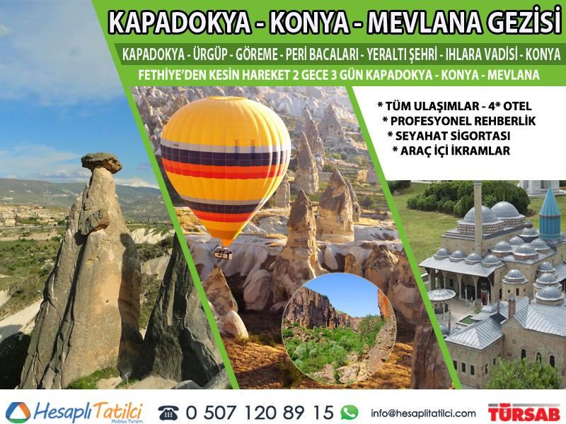 Kapadokya - Konya Mevlana Türbesi Turu (2 Gece 3 Gün) | Fethiye Çıkışlı