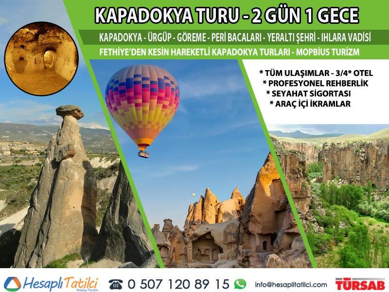 Kapadokya Turu (2 Gün 1 Gece) | Fethiye Çıkışlı